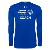 Under Armour Royal Long Sleeve Tech Tee-Coach