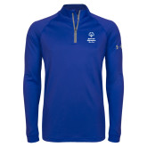 Under Armour Royal Tech 1/4 Zip Performance Shirt-Primary Mark Vertical