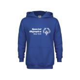 Youth Royal Fleece Hoodie-Primary Mark Horizontal