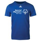 Adidas Royal Logo T Shirt-Primary Mark Horizontal