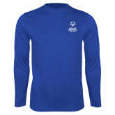 Performance Royal Longsleeve Shirt-Primary Mark Vertical