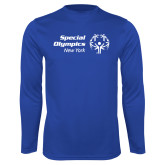 Performance Royal Longsleeve Shirt-Primary Mark Horizontal
