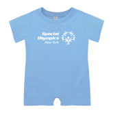 Light Blue Infant Romper-Primary Mark Horizontal
