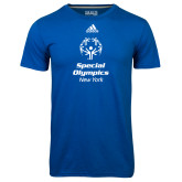 Adidas Climalite Royal Ultimate Performance Tee-Primary Mark Vertical