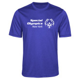 Performance Royal Heather Contender Tee-Primary Mark Horizontal