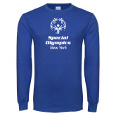 Royal Long Sleeve T Shirt-Primary Mark Vertical