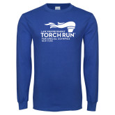 Royal Long Sleeve T Shirt-Law Enforcement Torch Run