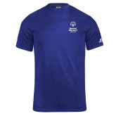 Russell Core Performance Royal Tee-Primary Mark Vertical