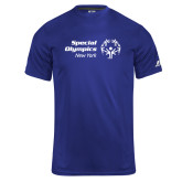 Russell Core Performance Royal Tee-Primary Mark Horizontal