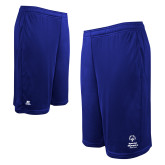 Russell Performance Royal 10 Inch Short w/Pockets-Primary Mark Vertical