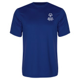 Performance Royal Tee-Primary Mark Vertical