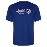 Performance Royal Tee-Primary Mark Horizontal