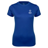 Ladies Syntrel Performance Royal Tee-Primary Mark Vertical