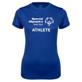 Ladies Syntrel Performance Royal Tee-Athlete