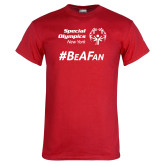 Red T Shirt-Hashtag Be A Fan