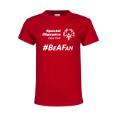 Youth Red T Shirt-Hashtag Be A Fan