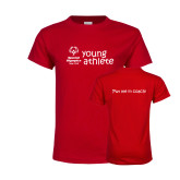 Youth Red T Shirt-Young Athletes Shirt Front