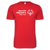 Next Level SoftStyle Red T Shirt-Primary Mark Horizontal