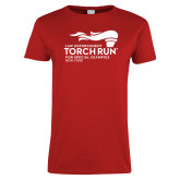Ladies Red T Shirt-Law Enforcement Torch Run