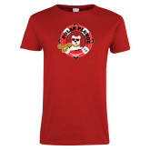 Ladies Red T Shirt-Polar Plunge