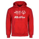 Red Fleece Hoodie-Hashtag Be A Fan