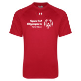 Under Armour Red Tech Tee-Primary Mark Horizontal