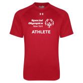 Under Armour Red Tech Tee-Athlete