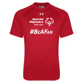 Under Armour Red Tech Tee-Hashtag Be A Fan