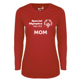 Ladies Syntrel Performance Red Longsleeve Shirt-Mom