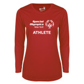 Ladies Syntrel Performance Red Longsleeve Shirt-Athlete