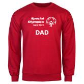 Red Fleece Crew-Dad