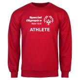 Red Fleece Crew-Athlete