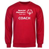 Red Fleece Crew-Coach