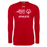 Under Armour Red Long Sleeve Tech Tee-Athlete