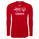 Under Armour Red Long Sleeve Tech Tee-Coach