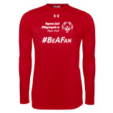 Under Armour Red Long Sleeve Tech Tee-Hashtag Be A Fan