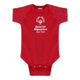 Red Infant Onesie-Primary Mark Vertical