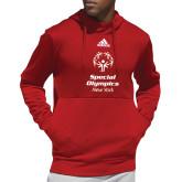 Adidas Red Team Issue Hoodie-Primary Mark Vertical