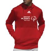 Adidas Red Team Issue Hoodie-Primary Mark Horizontal