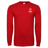 Red Long Sleeve T Shirt-Primary Mark Vertical