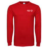 Red Long Sleeve T Shirt-Primary Mark Horizontal