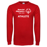 Red Long Sleeve T Shirt-Athlete