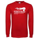 Red Long Sleeve T Shirt-Law Enforcement Torch Run
