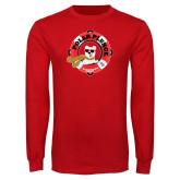 Red Long Sleeve T Shirt-Polar Plunge