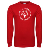 Red Long Sleeve T Shirt-Play Unified