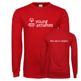 Red Long Sleeve T Shirt-Young Athletes Shirt Front