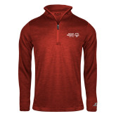 Russell Red Heather 1/4 Zip-Primary Mark Horizontal
