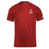 Russell Core Performance Red Tee-Primary Mark Vertical