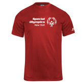 Russell Core Performance Red Tee-Primary Mark Horizontal