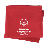 Red Sweatshirt Blanket-Primary Mark Vertical